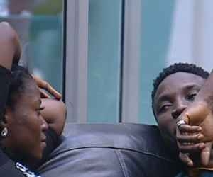 VIDEO: Bassey Goes Naike@d While Debbie-rise Watches Him Shower – #BBNaija